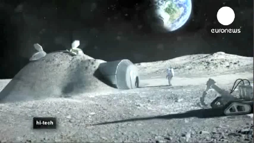 Building with moon dust (English-French) Construire avec de la poussière de lune