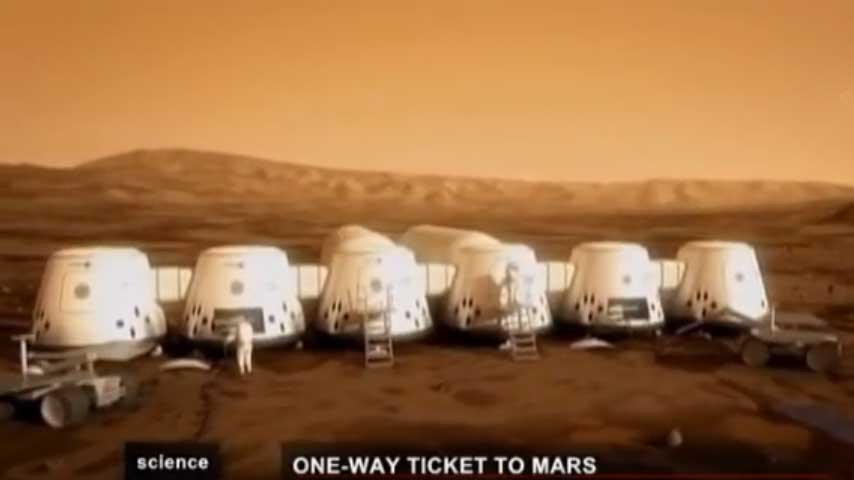 One Way Ticket to Mars (English-French) Aller Simple pour Mars